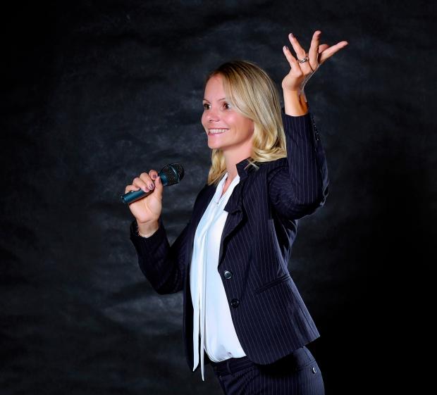 Isabelle Kürschner beim New Work Vortrag
