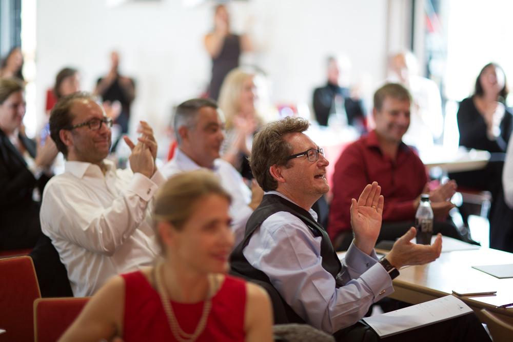 Publikum beim Vortrag New Work